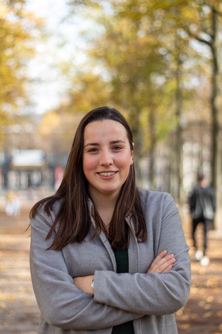 Hilde Wendel, voorzitter van de JOVD Beeld JOVD