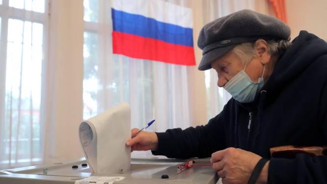 Partij van Poetin aan kop met ruim de helft van stemmen geteld