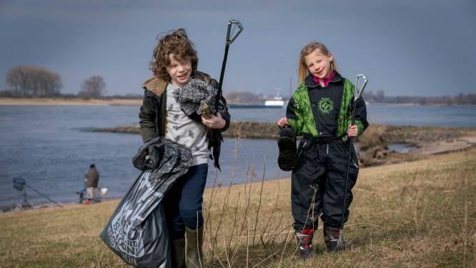 700 kilo afval langs Waal: 'elke keer meer'