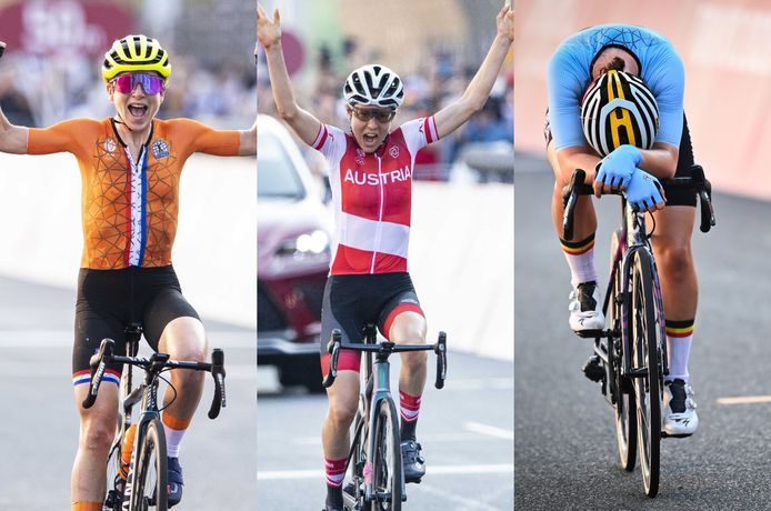 Van Vleuten dacht dat ze won, Kiesenhofer won écht en Kopecky mist net een medaille.