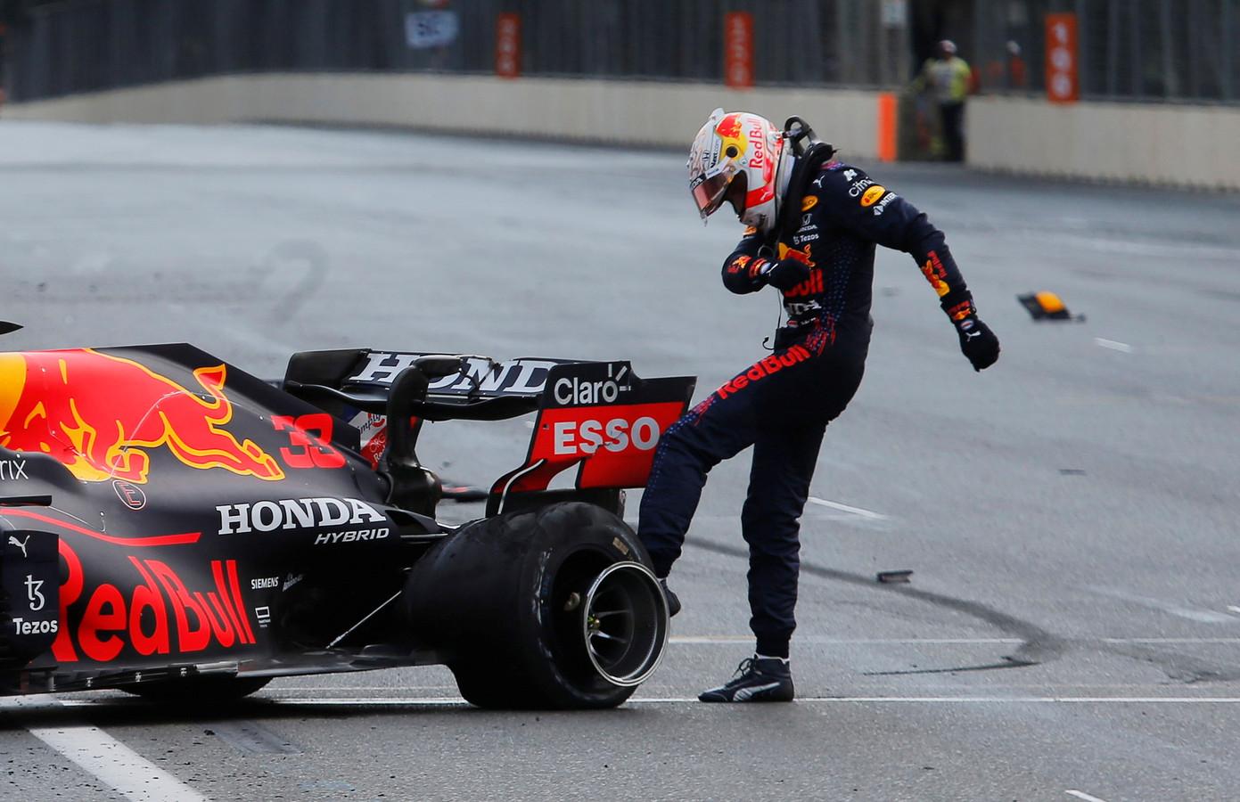 Max Verstappen na de race in Bakoe.