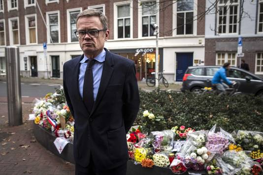 De Franse ambassadeur Laurent Pic bij de Franse ambassade in Den Haag.
