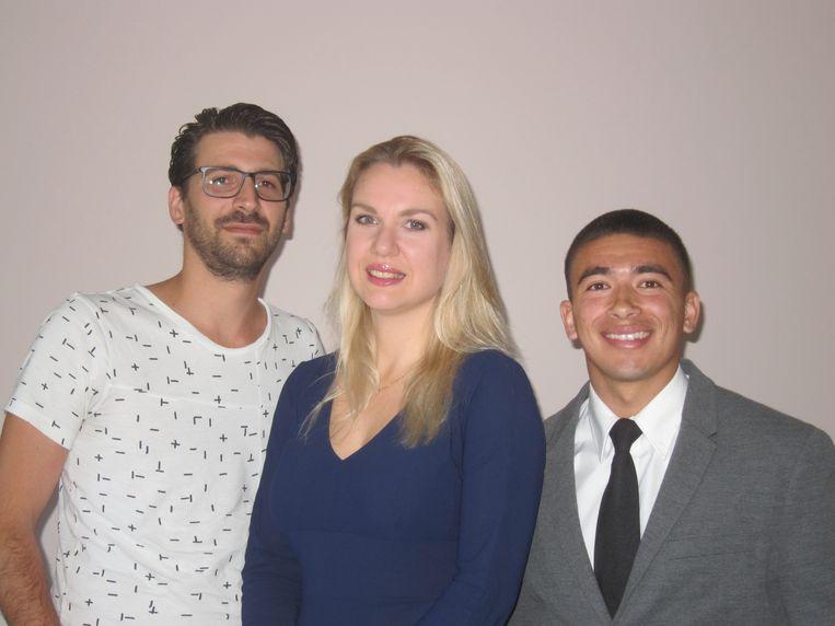 Echtgenoot Frank (links) wordt fractiesecretaris, medewerker Angelo (rechts) komt van Pink, de jongerenafdeling van de Partij voor de Dieren. Beeld
