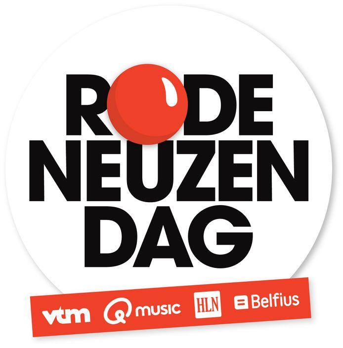 Het logo van Rode Neuzen dag, waardoor OverKop in 2016 het levenslicht zag.