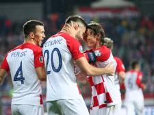 Kroatië ontdoet zich na rust van tien man Slowakije en gaat naar EK