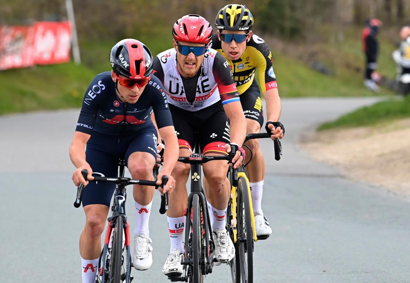 Pidcock, Trentin en Van Aert.