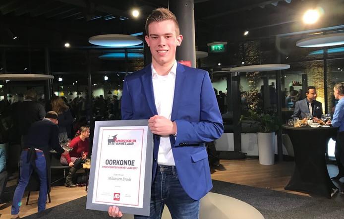 Milan ten Broek werd vorig jaar de Amersfoorter van het jaar en is dit jaar jurylid.