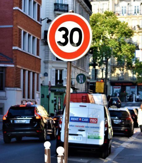 Snelheidsbeperking van 30 km/u in bijna heel Parijs vanaf eind volgende maand