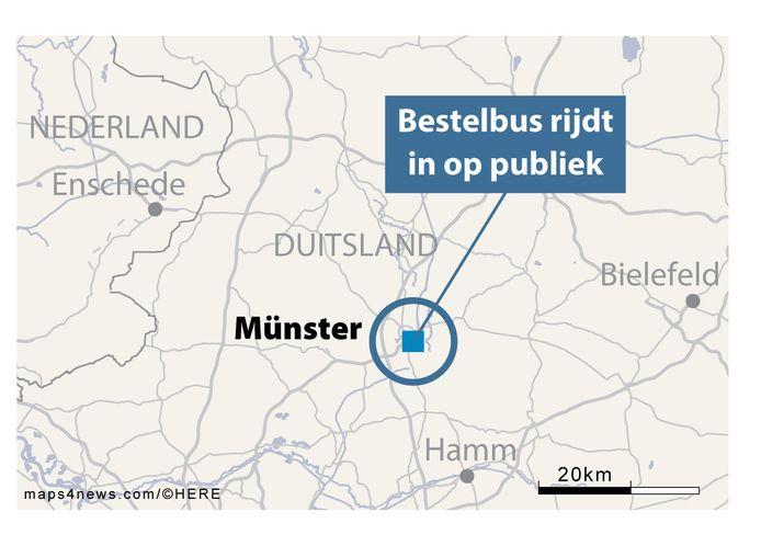 De stad Münster ligt relatief dicht bij de Nederlandse grens op zo'n 50 km ten Zuidoosten van Enschede.