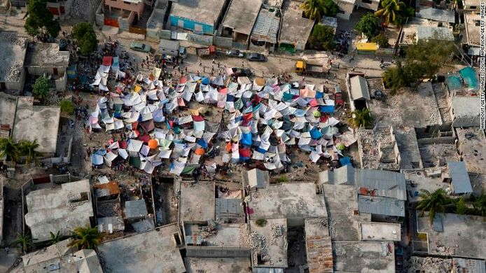 Haïti na de aardbevingen in 2011.