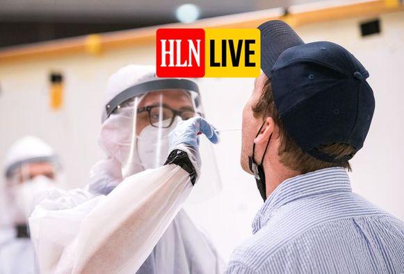 In verschillende luchthavens worden passagiers getest op het coronavirus.