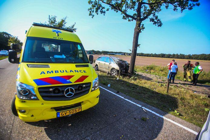Dodelijk ongeval op de N270 tussen Helmond en Deurne.