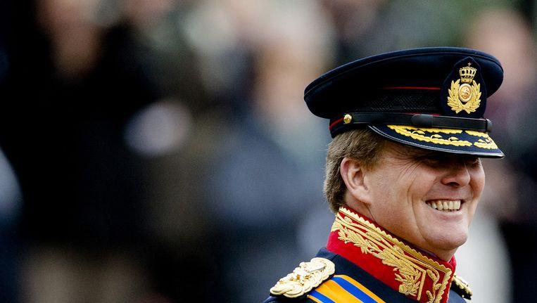 Koning Willem-Alexander bij de viering van 200 jaar landmacht. Beeld ANP