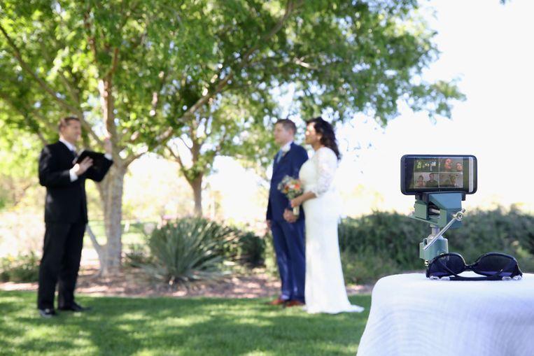 Bij huwelijken mogen enkel de getuigen de ceremonie bijwonen. Beeld AFP