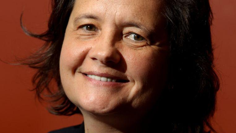 Voorzitster parlement Franstalige Brusselaars Julie de Groote. Beeld BELGA