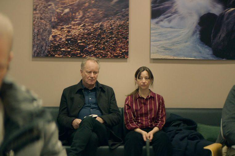 Acteurs Stellan Skarsgard en Andrea Bræin Hovig in 'Hope'.  Beeld rv