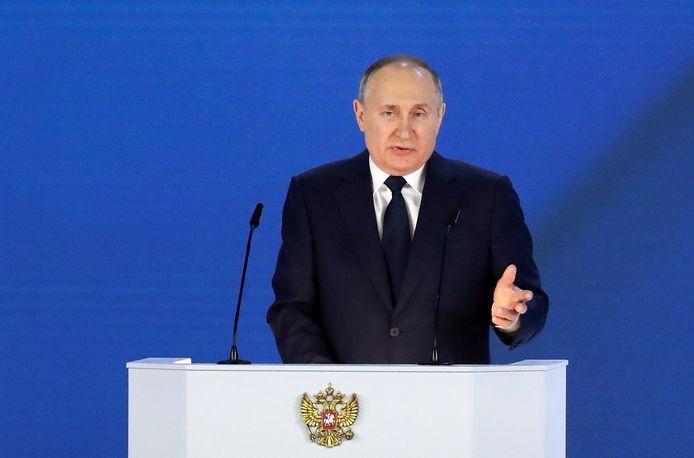 M. Poutine lors de son grand discours annuel sur l'état de la Nation.