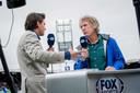 Gertjan Verbeek als analyticus bij FOX Sports, dat inmiddels van naam is veranderd naar ESPN.