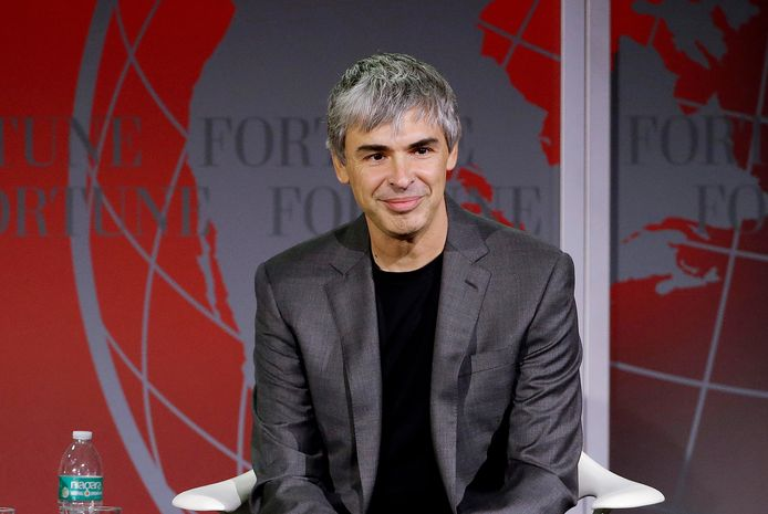 Medeoprichter Larry Page van Google op een foto uit 2015.