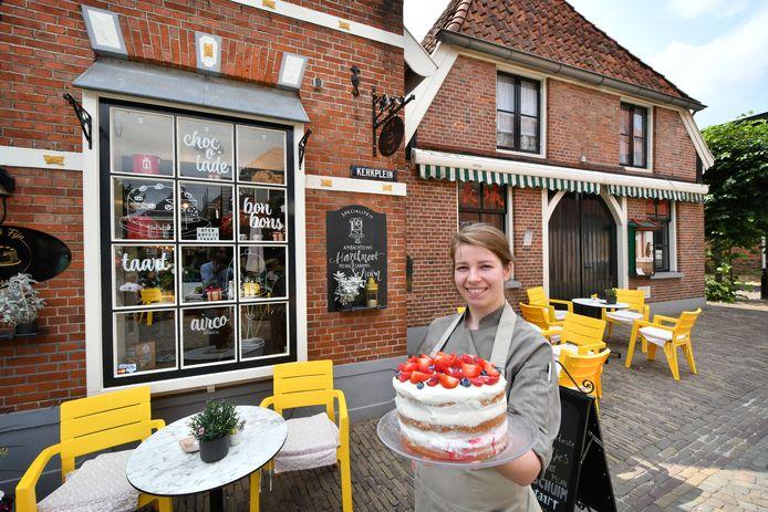 Lindsey Mensink van Pieck Fijn Patisserie huurt ook het pand waarin een Chinees restaurant gevestigd was.