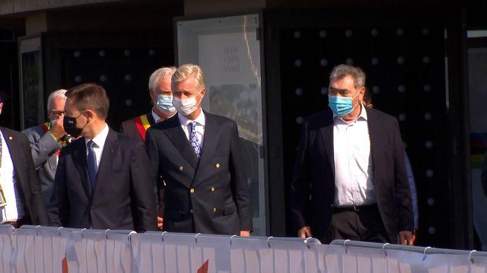 Hoog bezoek in Brugge: koning Filip volgt het WK wielrennen samen met Eddy Merckx
