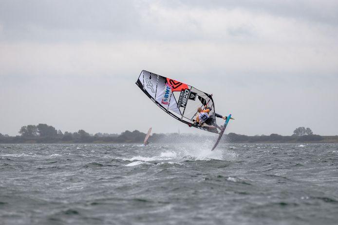 Amado Vrieswijk in actie op het Grevelingenmeer.