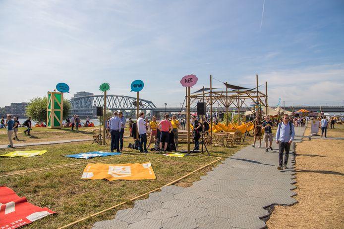 Het Democratiefestival langs de Waal in Nijmegen in 2019