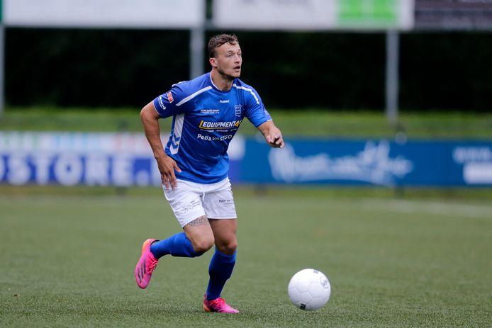 Mats Grotenbreg in actie voor GVVV, afgelopen dinsdag in de oefenwedstrijd tegen zijn oude club Hercules.