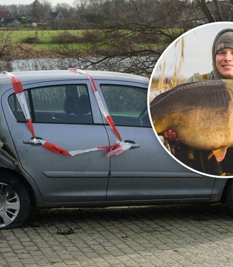 Auto van karpervisser Bas (28) verwoest: 'Mensen willen niet dat je in hun water vist'