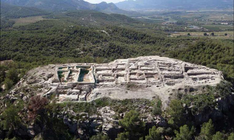 La Almoloya, een indrukwekkende archeologische site in Murcia, was vermoedelijk het politieke en economische centrum van El Argar, een van de eerste beschavingen die brons gebruikte.  Beeld Cambridge University Press