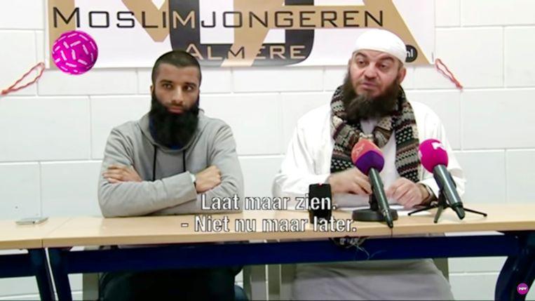 Screenshot van video: links Umair Bantvawala, rechts Haitam al-Haddad Beeld geen stijl