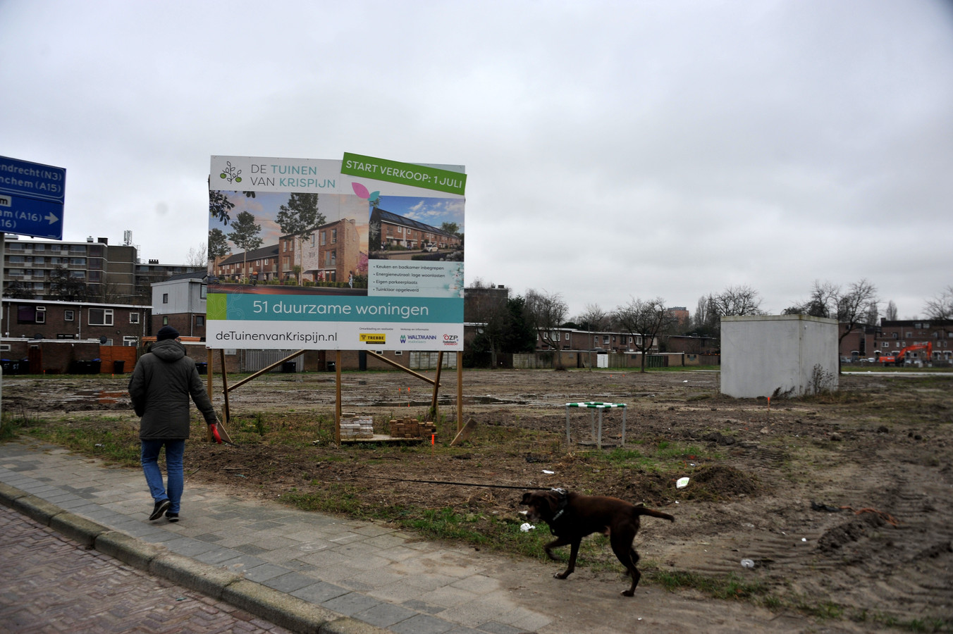 In De Drechtsteden is vooral veel vraag naar eengezinswoningen, zoals hier in Krispijn.