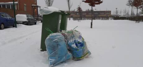 Containers worden deze week niet geleegd door gladde wegen en sneeuw