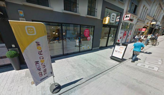 De Telenetshop in de Bruul in Mechelen