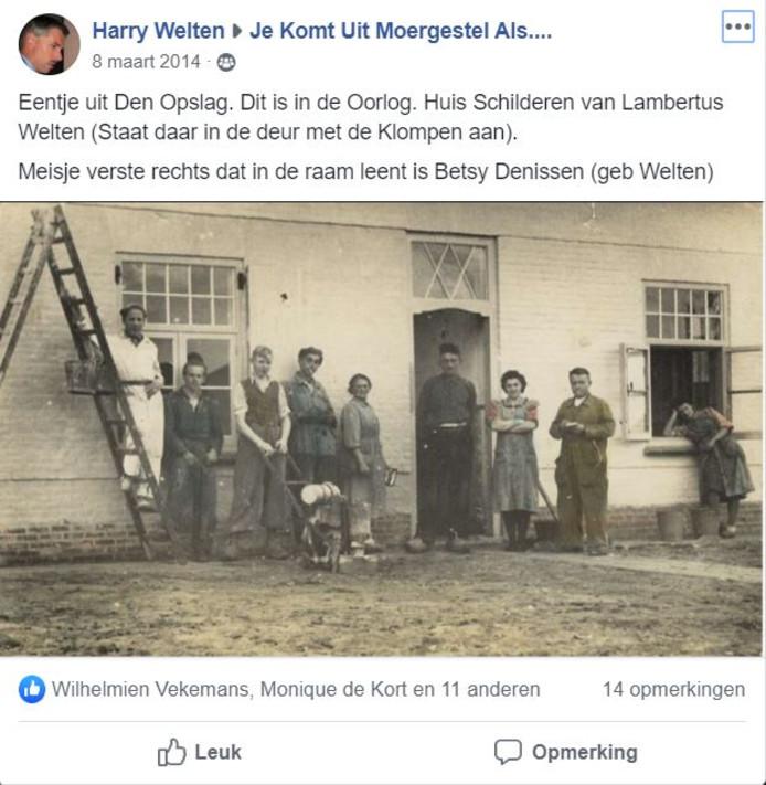 Facebookpost van Harry Welten uit 2014