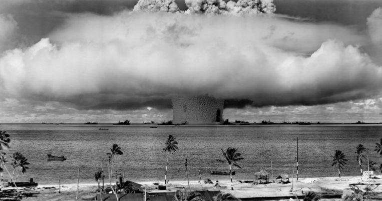 Atoomtest op de Marshalleilanden in juli 1946. Beeld iStock