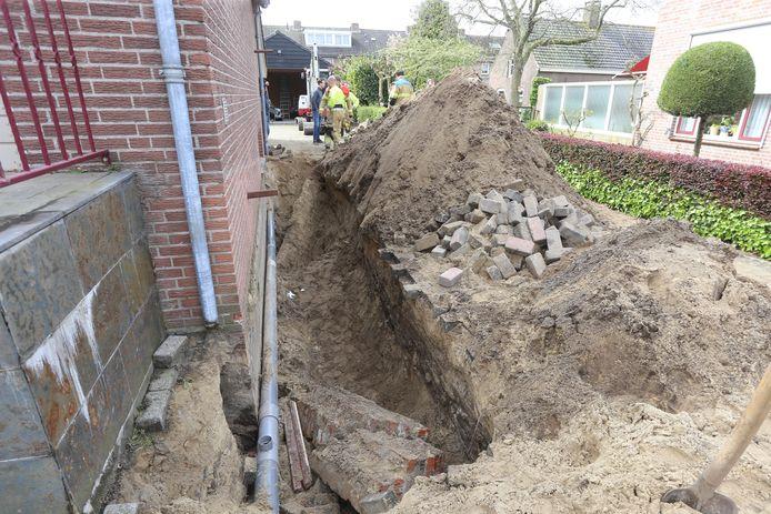 Man bekneld met been in Heeswijk-Dinther.