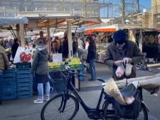 Op de markt in Tilburg komen de klanten gewoon toch