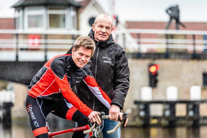 Henk Angenent en Wabe de Rooij doen mee met de Rotary Bike Challenge.