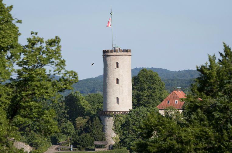 Kasteel Sparrenburg in de 'niet bestaande stad' Bielefeld. Beeld AP