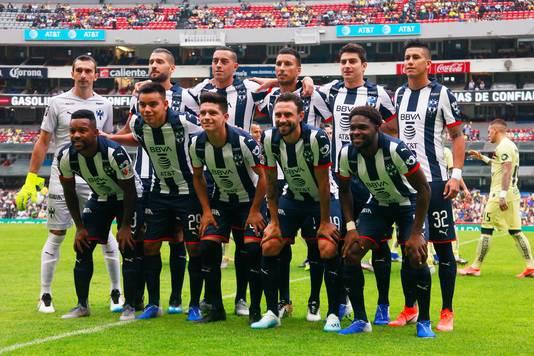 De spelers van Monterrey voor de uitwedstrijd bij Club América afgelopen zondag.