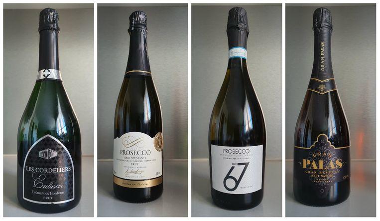 3. Les Cordeliers Exclusive Brut | 4. Andrea Longo Prosecco Brut | 5. 67 Brut Prosecco | 6. Gran Palas Gran Reserva Brut