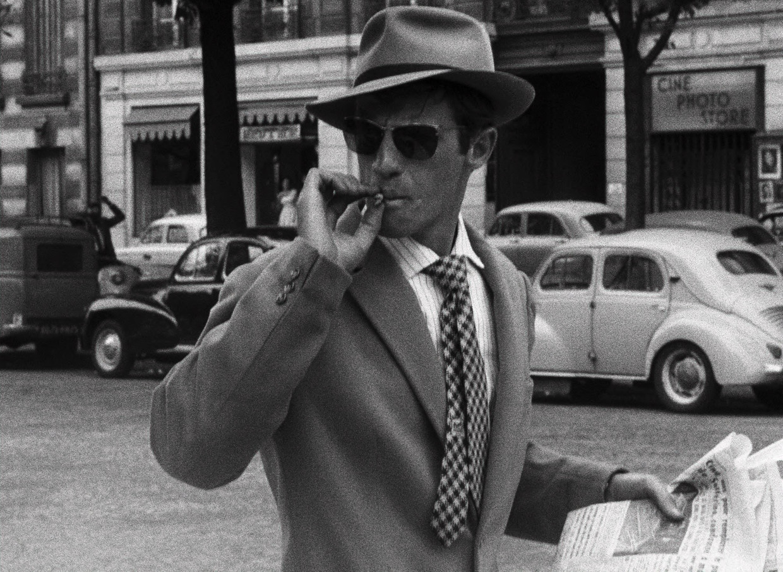 Jean-Paul Belmondo in 'A bout de souffle' (1960). Beeld Photo News