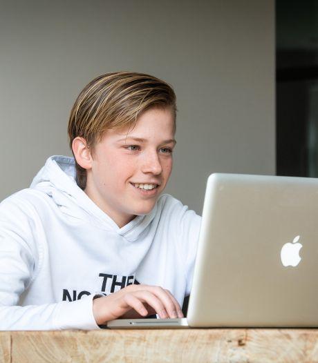 Geen vakkenvullen bij Albert Heijn; Juul (15) startte zijn eigen bedrijf in online bijles