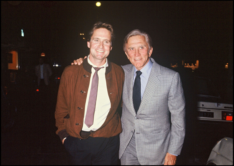 Kirk Douglas en zoon Michael Beeld Photo News