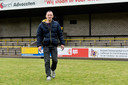 Ronny van Pinxteren in mei 2015 op het veld van zijn eigen club vv Baardwijk in Waalwijk. Hij kreeg een maand daarvoor een hartstilstand tijdens de uitwedstrijd bij sv Capelle.