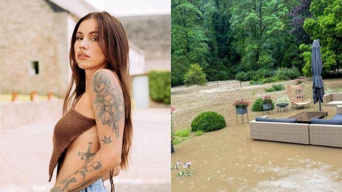 Gaëlle Garcia Diaz - Les images de sa maison sous eau