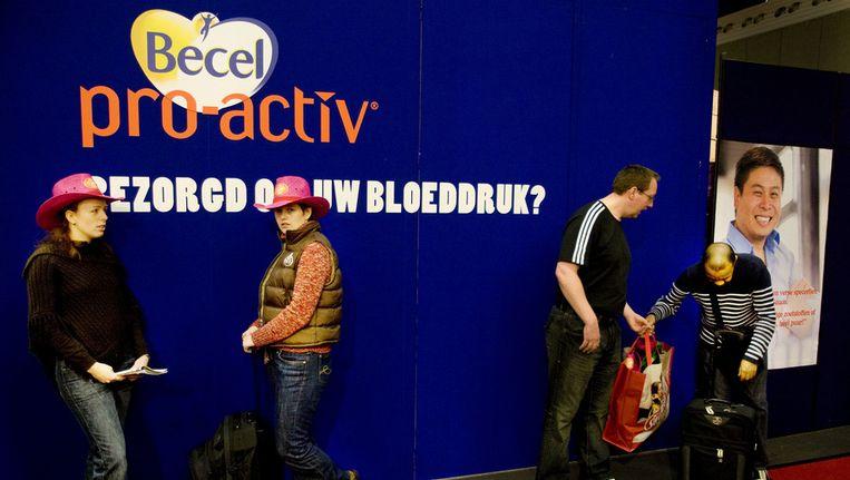 Reclame voor Becel pro-activ op de Huishoudbeurs Beeld ANP