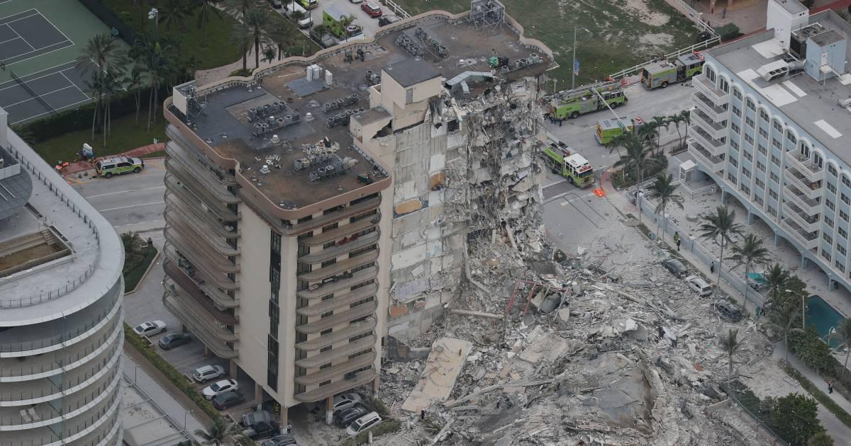 Geen hoop op overlevenden flatramp Miami: 'Alsof er een bom is ingeslagen'
