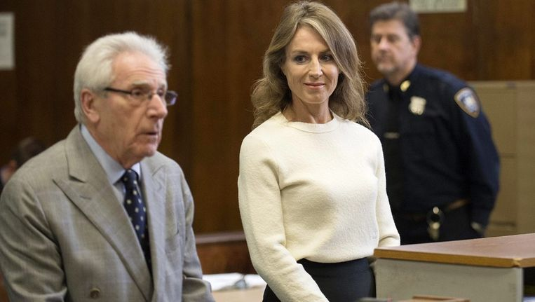 Heleen Mees met haar raadsman Ira London in de rechtbank van New York. Beeld ANP